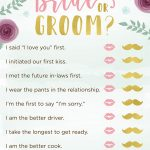 3 Bridal Shower Games + Free Printables | Kate Aspen Blog   Free Printable Wedding Shower Games