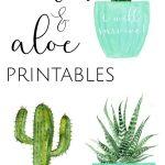 3 Free Cactus & Aloe Printables | Free Printables | Cactus   Free Printable Cactus