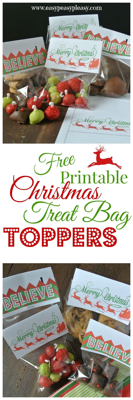 3 Free Printable Christmas Treat Bag Toppers | Easy Peasy Pleasy - Free Printable Christmas Bag Toppers Templates