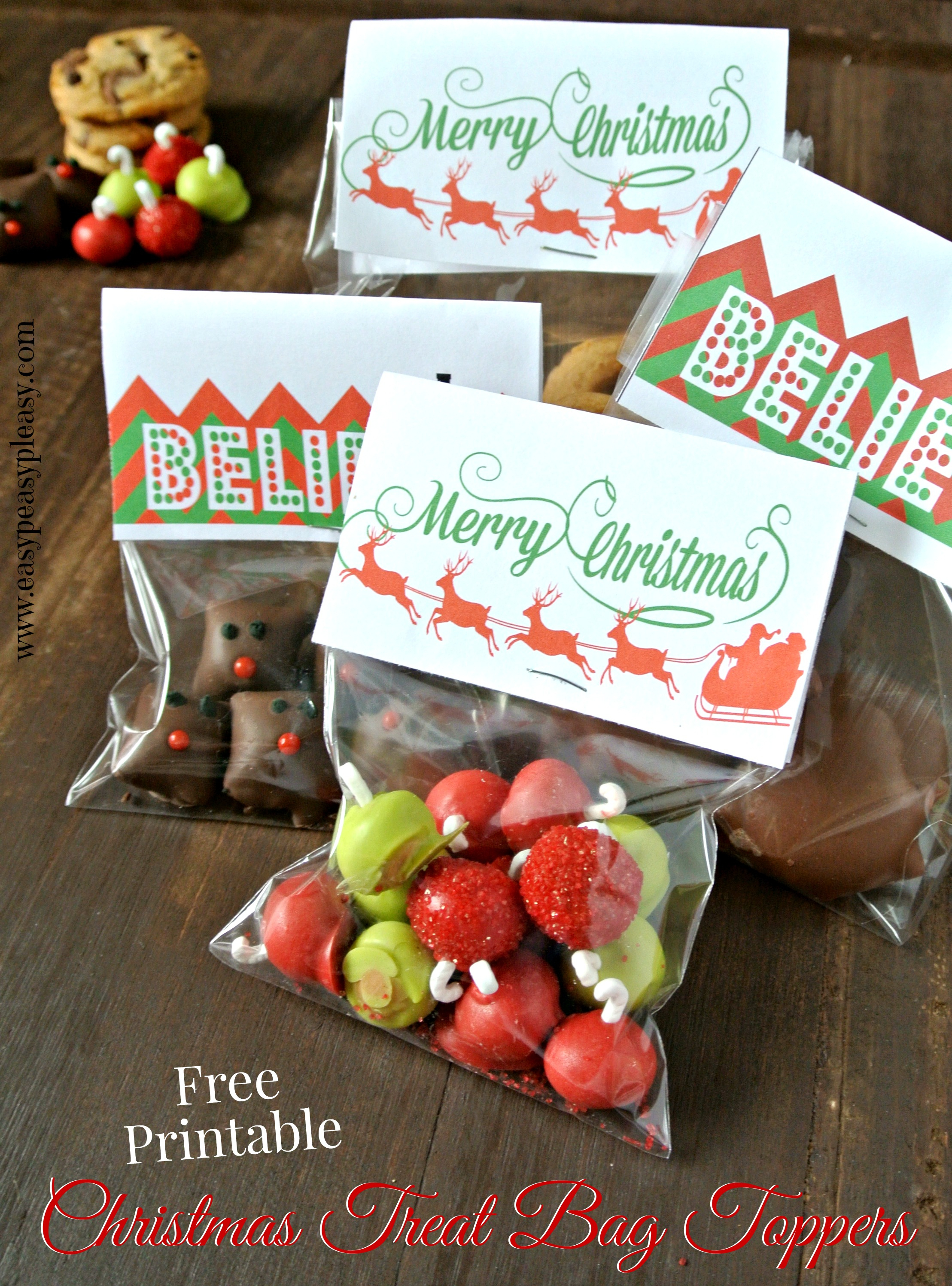 3 Free Printable Christmas Treat Bag Toppers - Easy Peasy Pleasy - Free Printable Thanksgiving Treat Bag Toppers