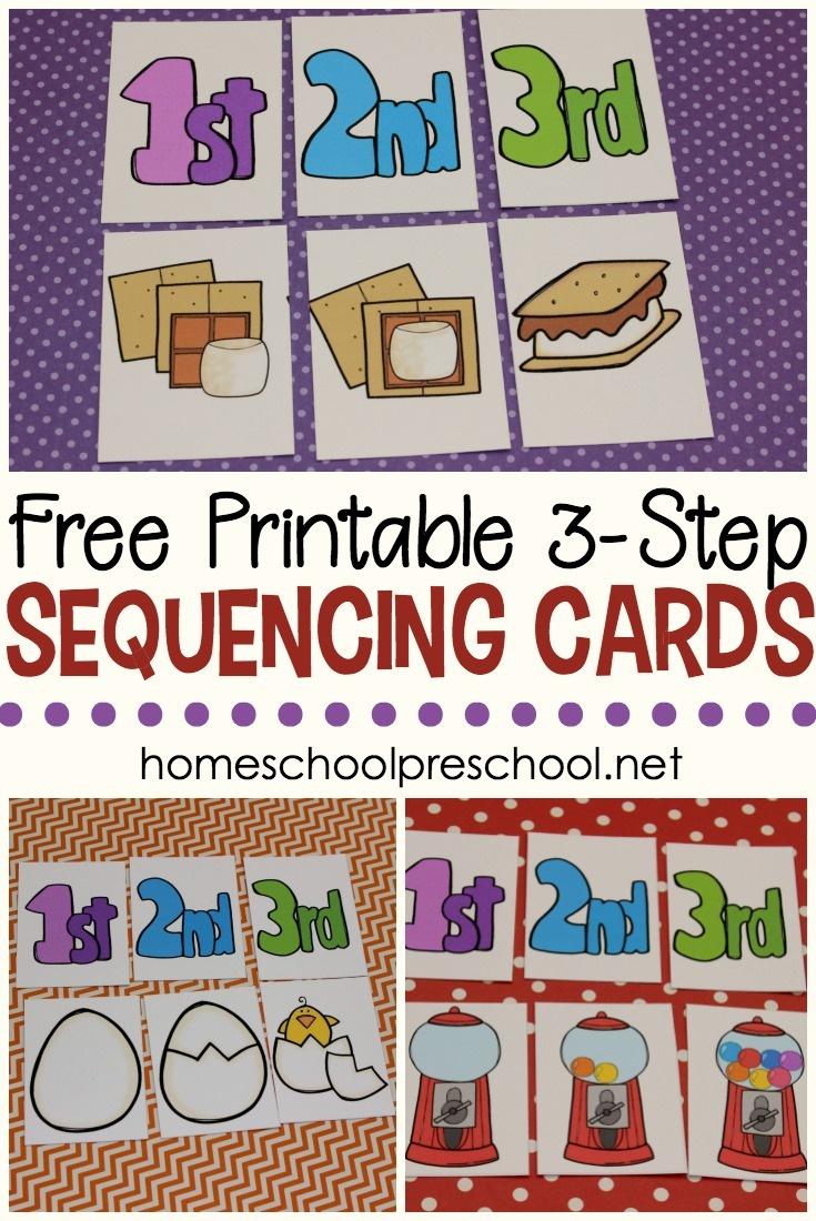 3 Step Sequencing Cards Free Printables For Preschoolers - Free Printable Kindergarten Task Cards
