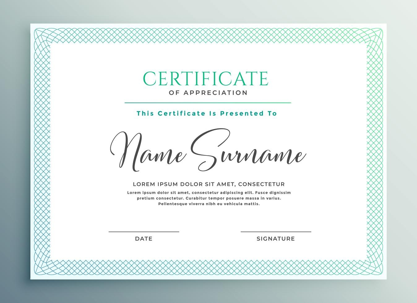 30+ Certificate Of Appreciation Template Download - Templates Study - Commitment Certificate Free Printable