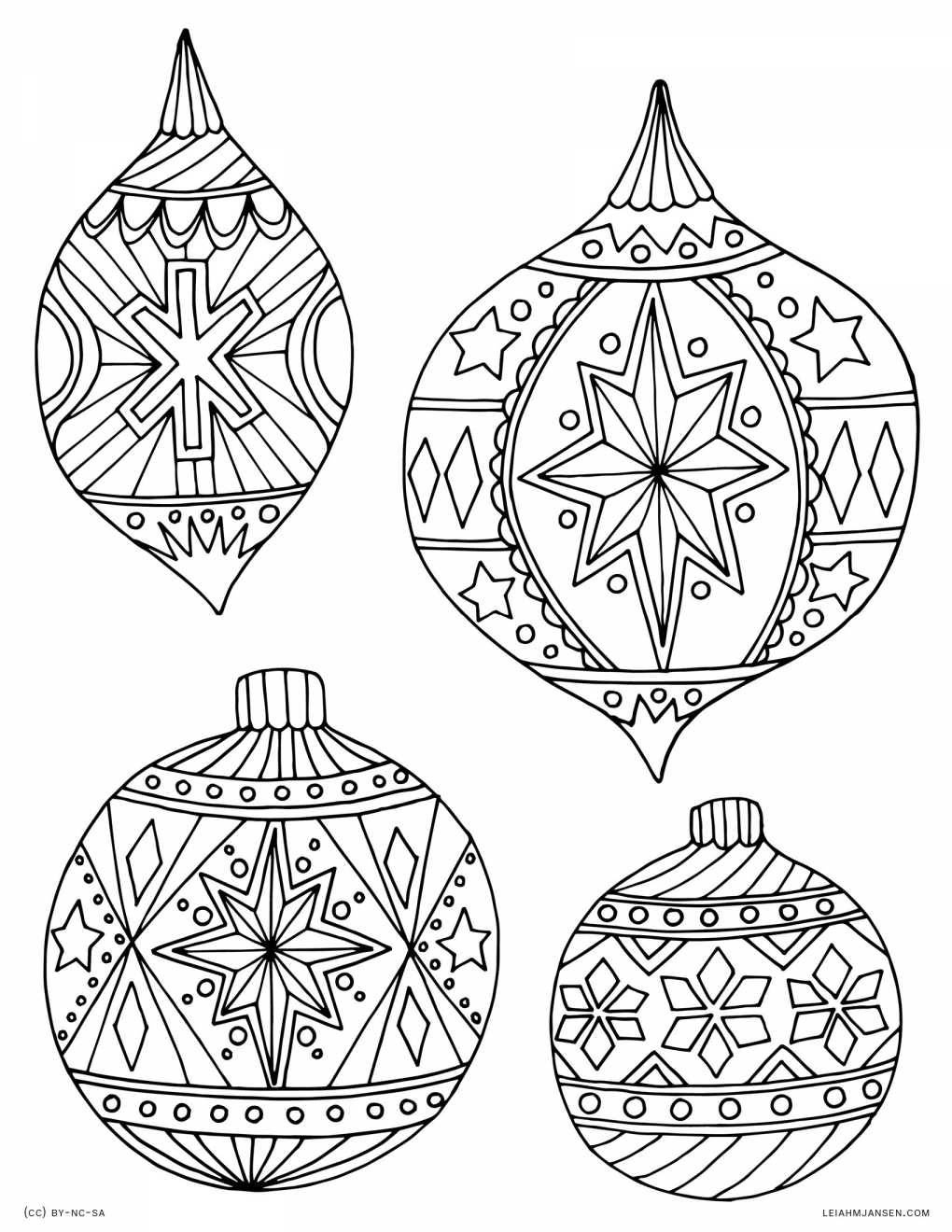 30 Cheerful Printable Christmas Ornaments | Kittybabylove - Free Printable Christmas Ornament Patterns