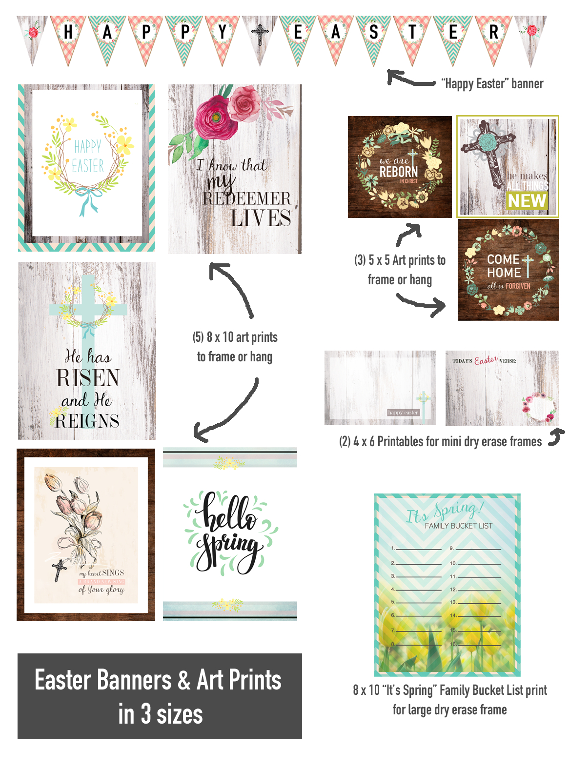 30+ Free Easter Home Decor Printables - Christ Centered Holidays - Free Printable Christian Art