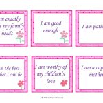 30 Free Positive Affirmation Cards For Mothers   Kiddie Matters   Free Printable Positive Affirmation Cards