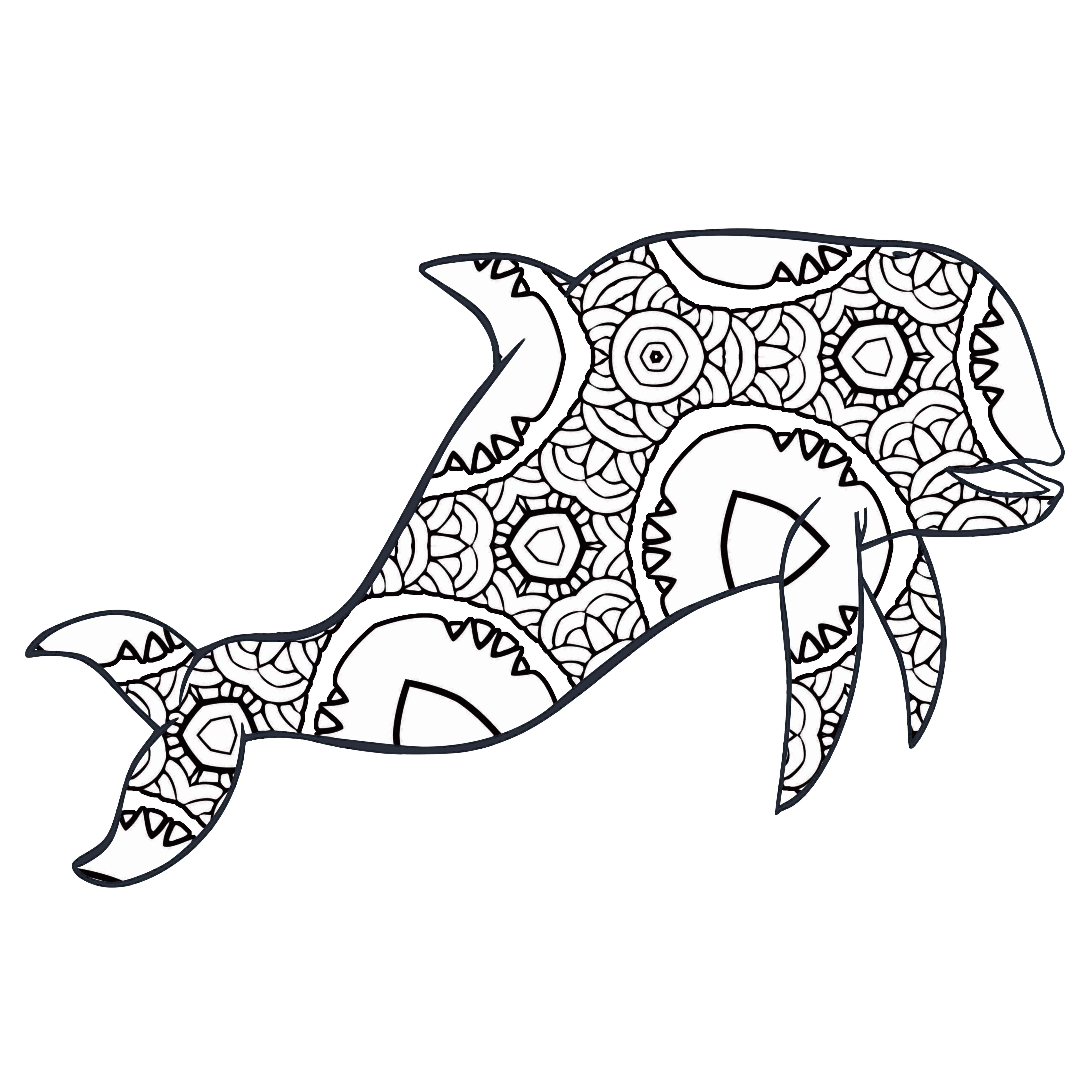 30 Free Printable Geometric Animal Coloring Pages | The Cottage Market - Free Coloring Pages Animals Printable