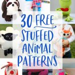 30 Free Stuffed Animal Patterns With Tutorials To Bring To Life   Free Printable Stuffed Animal Patterns