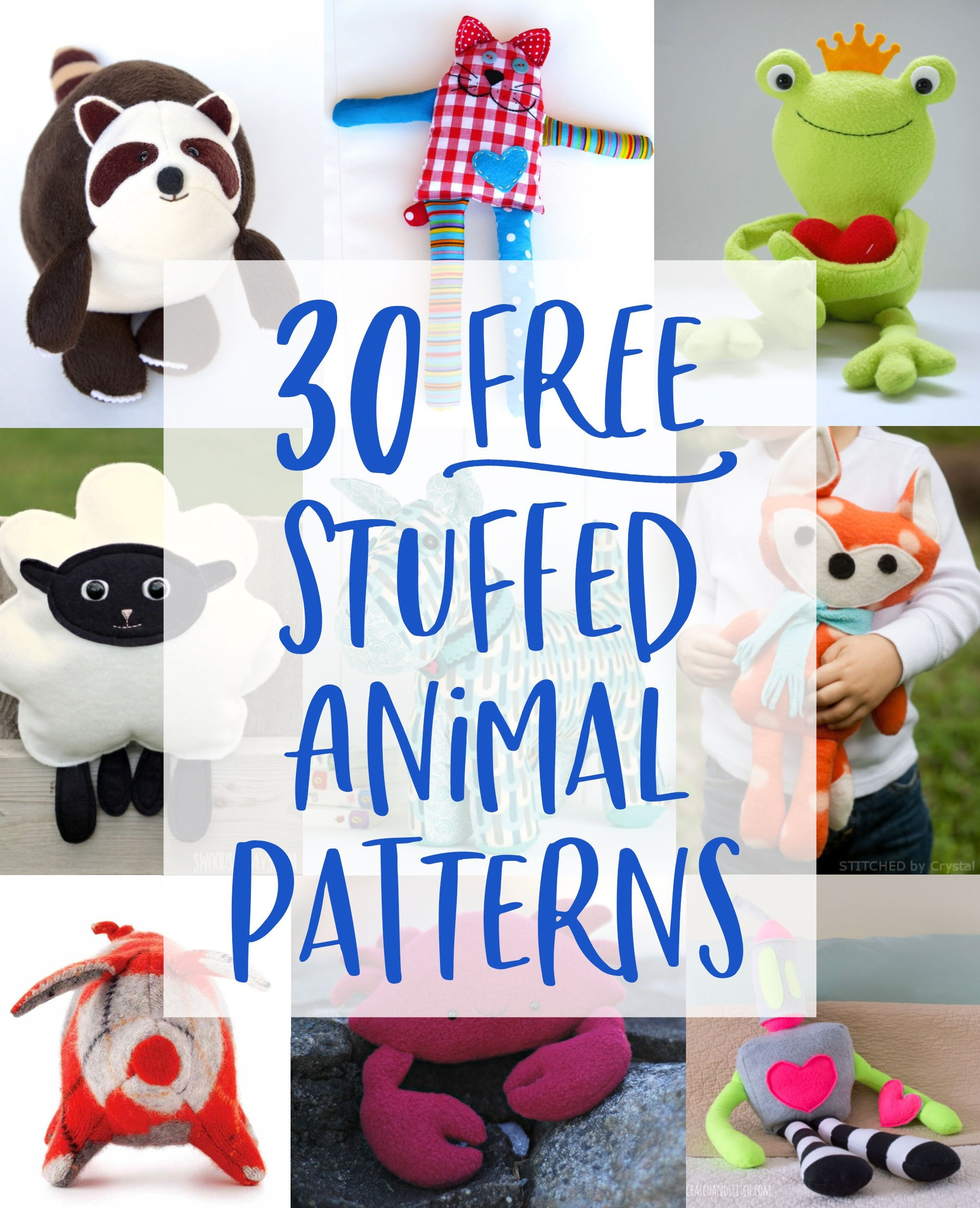30 Free Stuffed Animal Patterns With Tutorials To Bring To Life - Free Printable Stuffed Animal Patterns