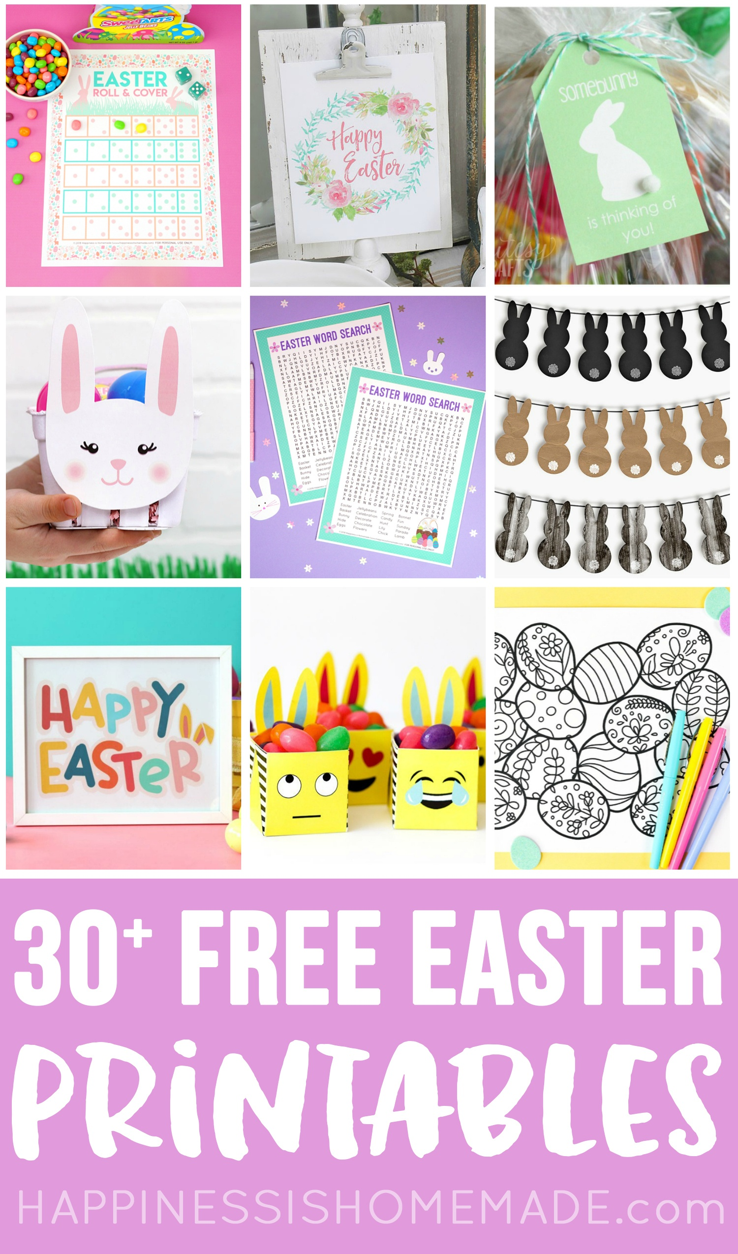 30+ Totally Free Easter Printables - Happiness Is Homemade - Free Printable Easter Tags