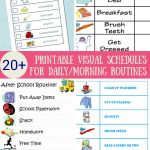33 Printable Visual/picture Schedules For Home/daily Routines. | Hs   Free Printable Schedule Cards