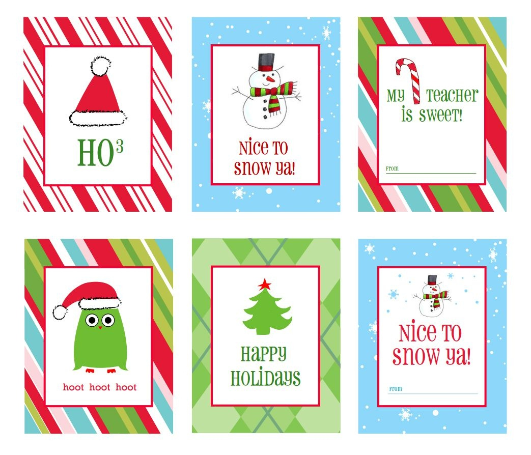 39 Sets Of Free Printable Christmas Gift Tags - Free Printable Happy Holidays Gift Tags