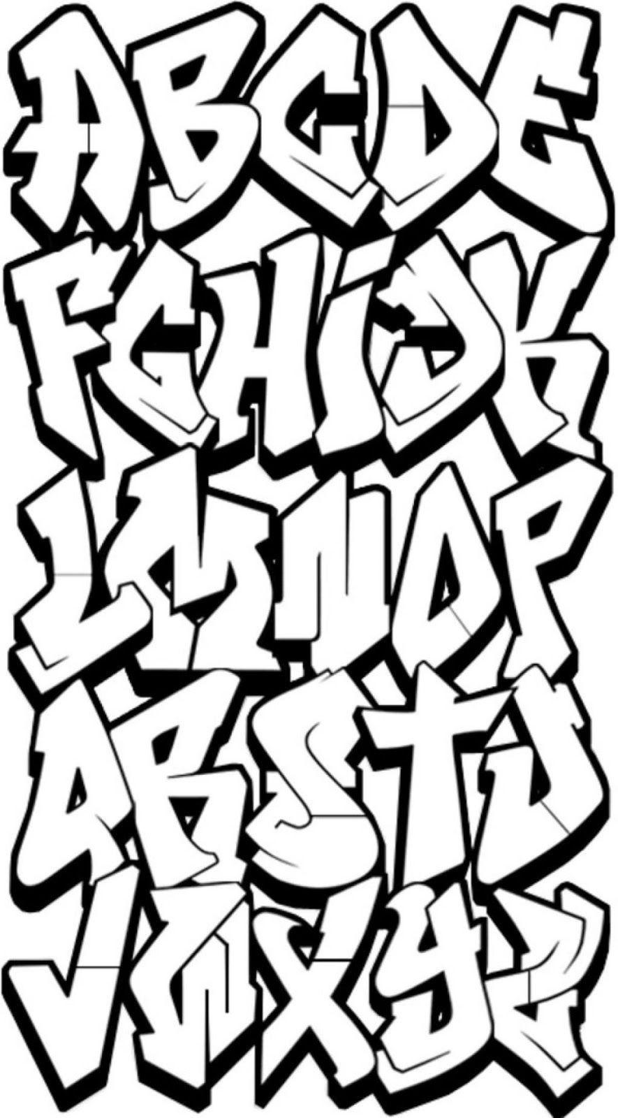 3D Graffiti Letters Az | Typography X In 2019 | Graffiti Alphabet - Free Printable Graffiti Letters Az