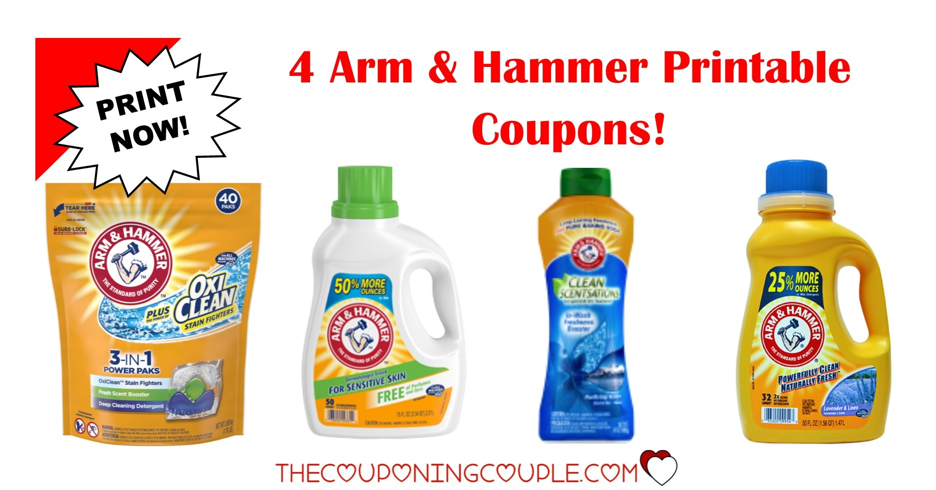 4 Arm & Hammer Printable Coupons ~ Print Now!! Don't Miss Out! - Free Printable Arm And Hammer Coupons
