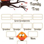 4 Free Family Tree Templates For Genealogy, Craft Or School Projects   Free Printable Family Tree