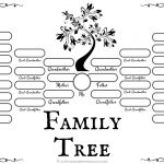4 Free Family Tree Templates For Genealogy, Craft Or School Projects   Free Printable Family Tree Template 4 Generations