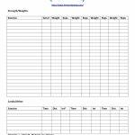 40+ Effective Workout Log & Calendar Templates ᐅ Template Lab   Free Printable Workout Journal