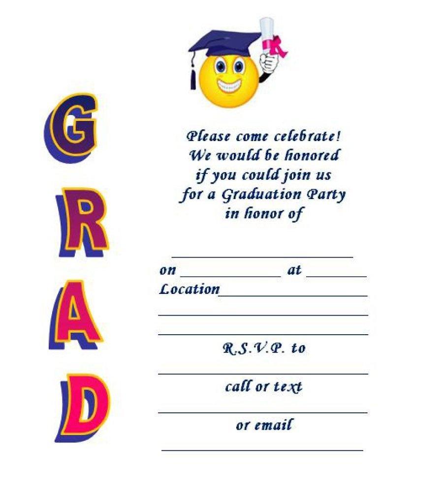 40+ Free Graduation Invitation Templates ᐅ Template Lab - Free Printable Graduation Announcements
