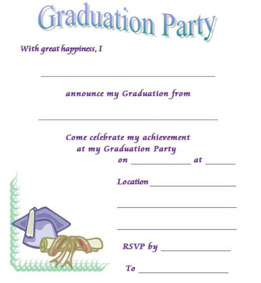 40+ Free Graduation Invitation Templates ᐅ Template Lab - Free Printable Graduation Invitation Templates