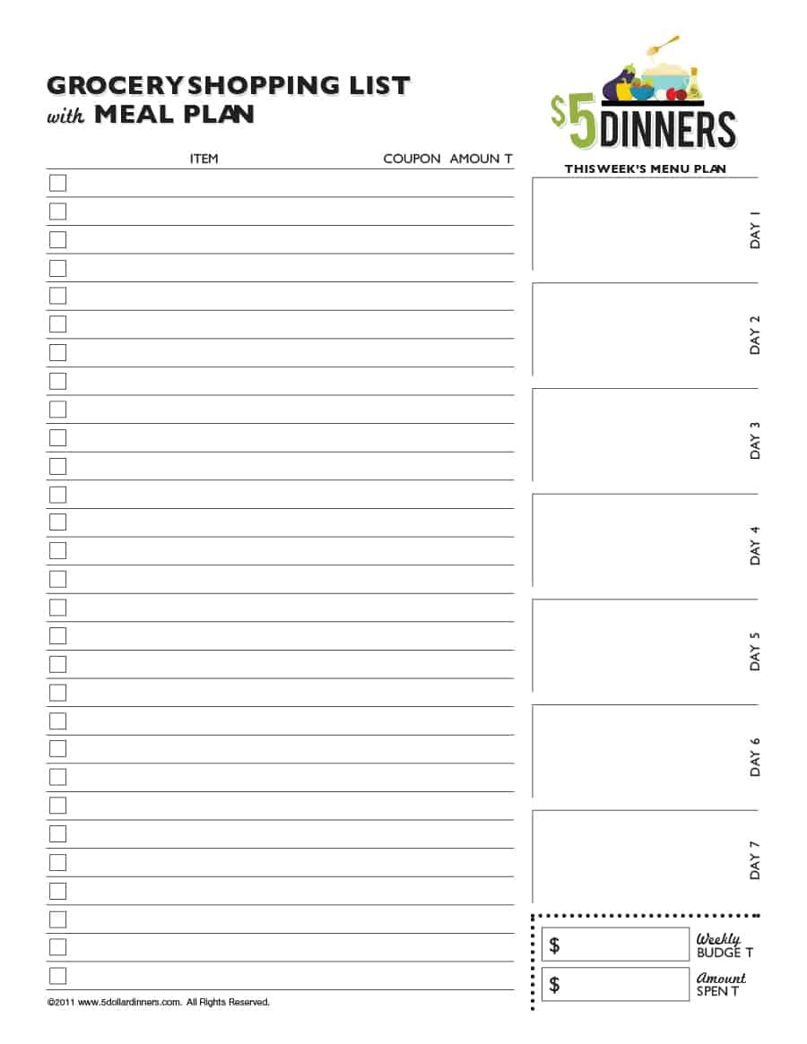 40+ Printable Grocery List Templates (Shopping List) ᐅ Template Lab - Free Printable Grocery List