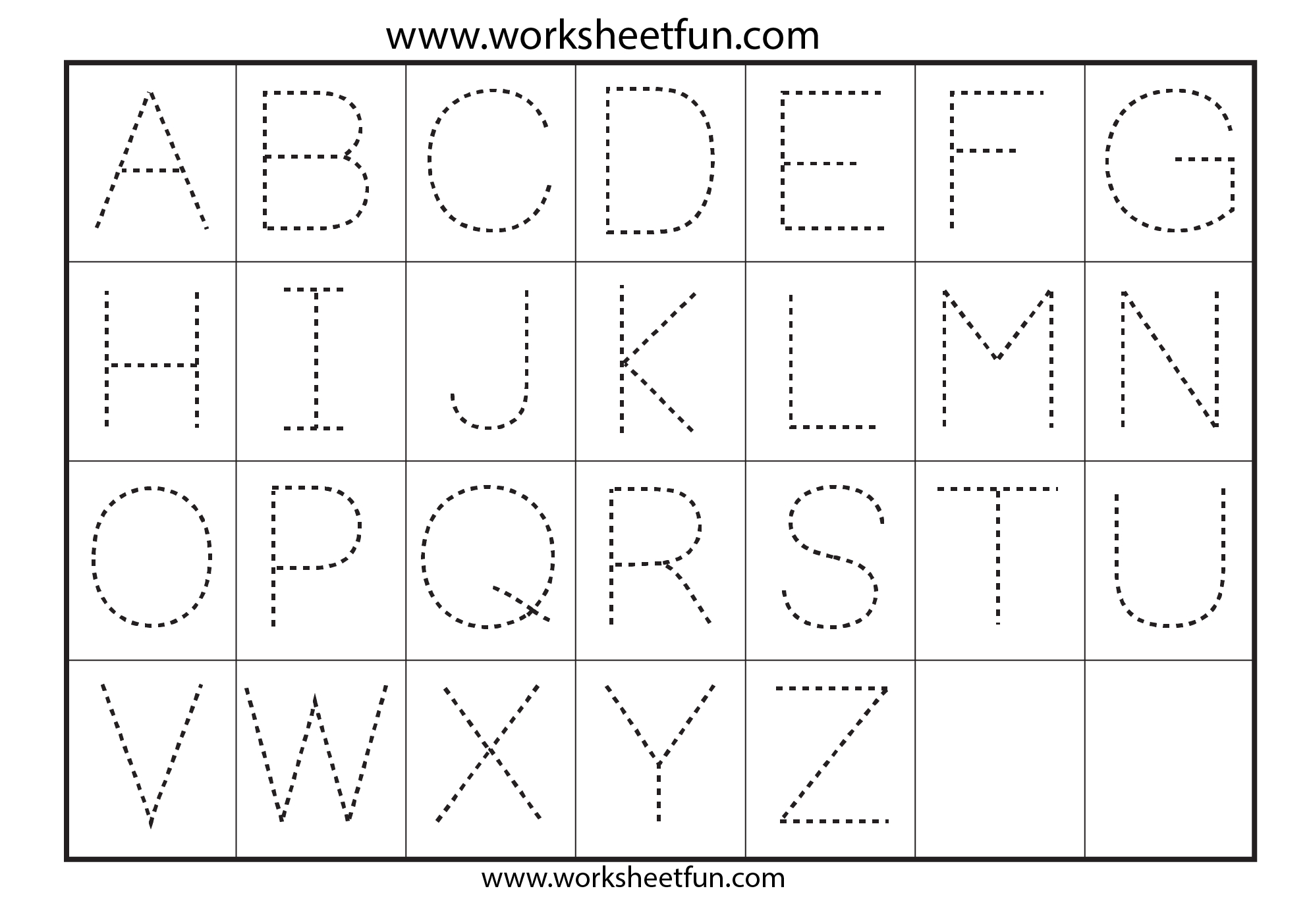 42 Educative Letter Tracing Worksheets | Kittybabylove - Free Printable Alphabet Tracing Worksheets