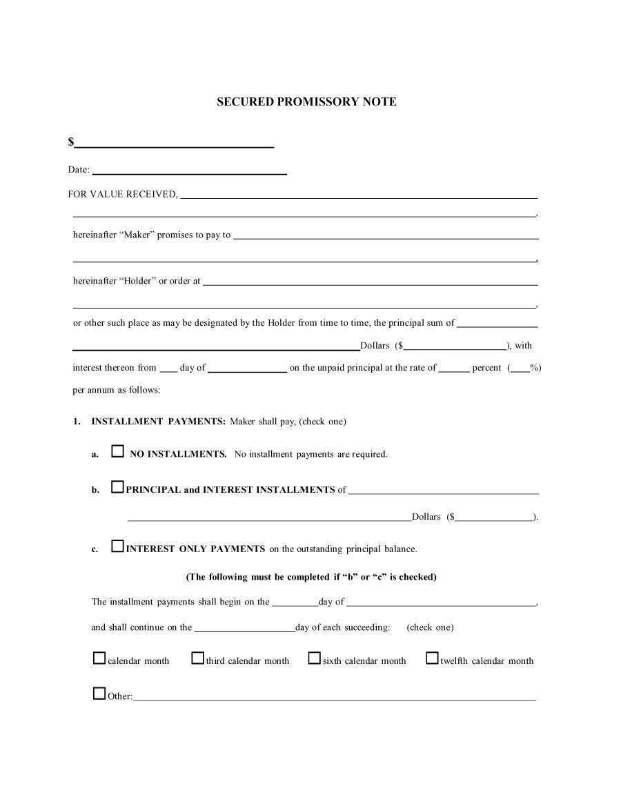 45 Free Promissory Note Templates & Forms [Word & Pdf] ᐅ Template Lab - Free Printable Promissory Note Template