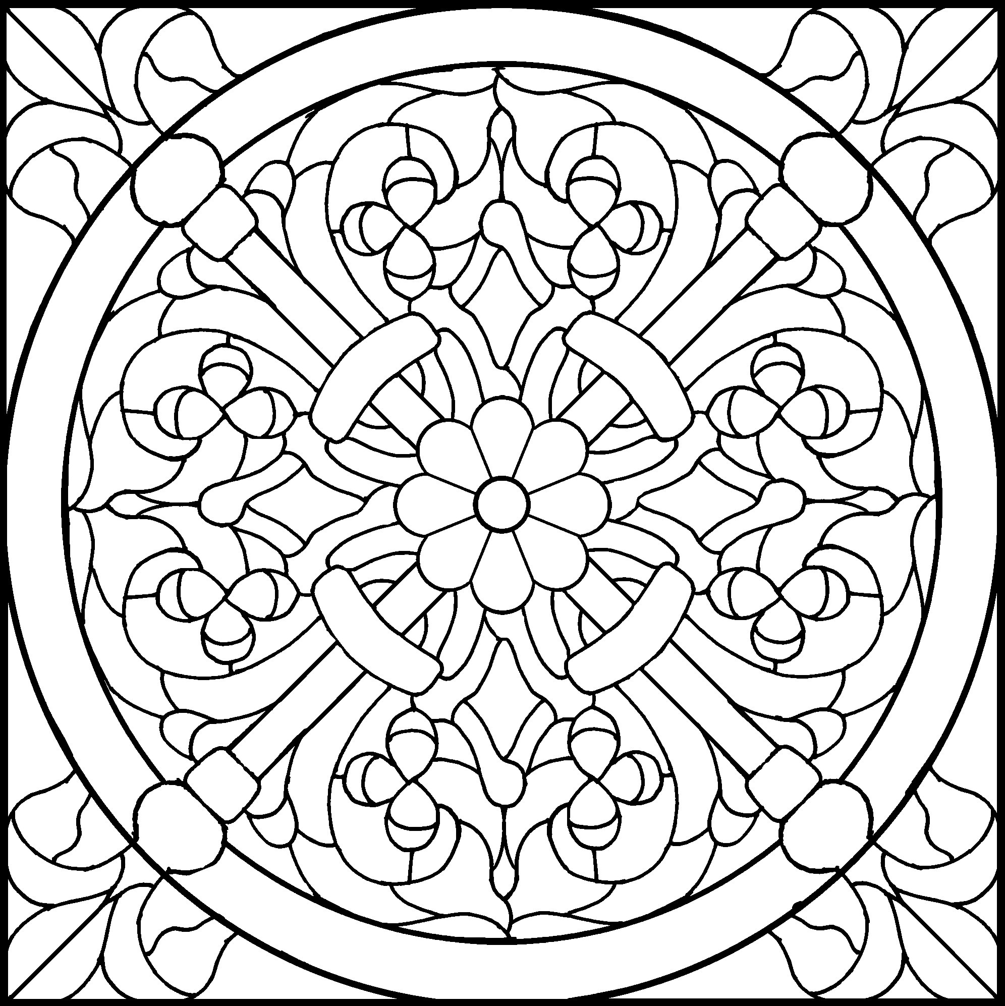 45 Simple Stained Glass Patterns | Guide Patterns - Free Printable Religious Stained Glass Patterns