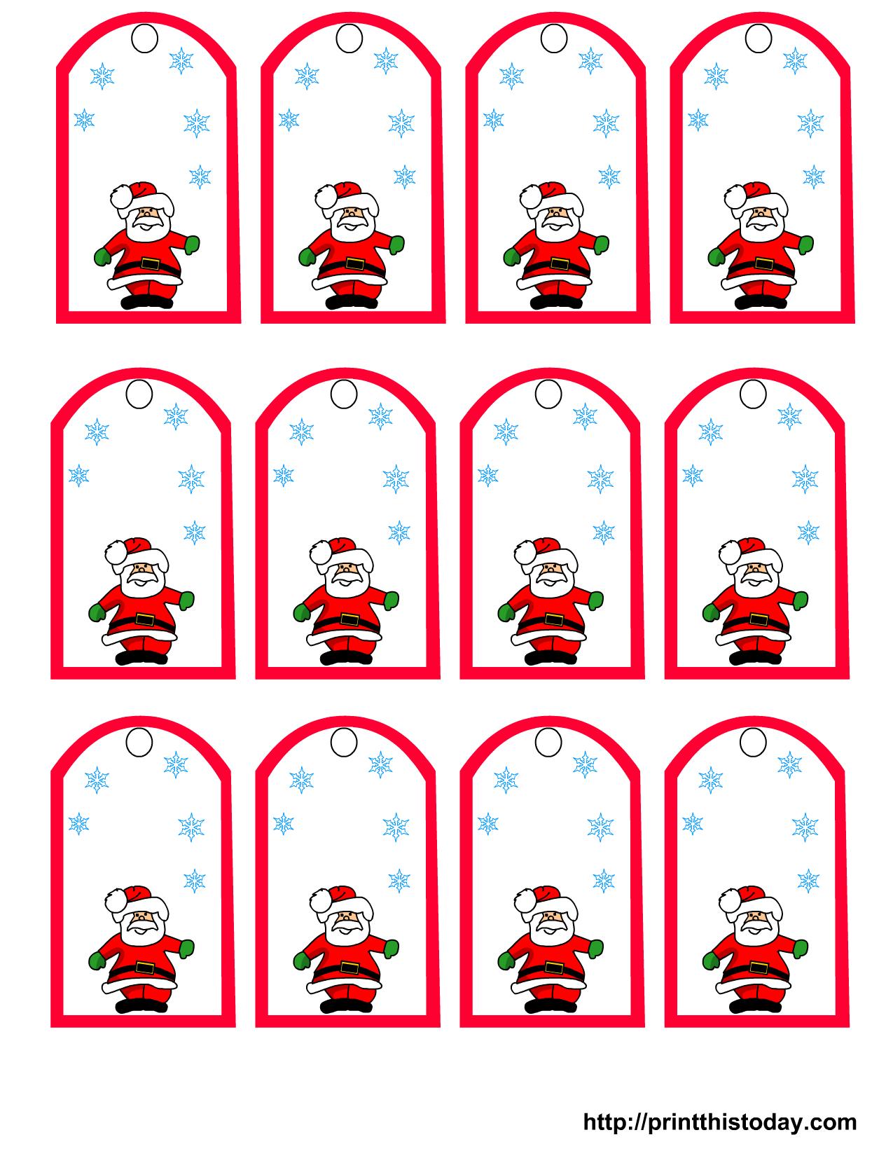 47 Free Printable Christmas Gift Tags (That You Can Edit And - Free Printable Gift Name Tags