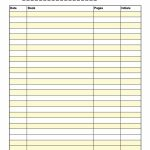 47 Printable Reading Log Templates For Kids, Middle School & Adults   Free Printable Reading Logs For Children