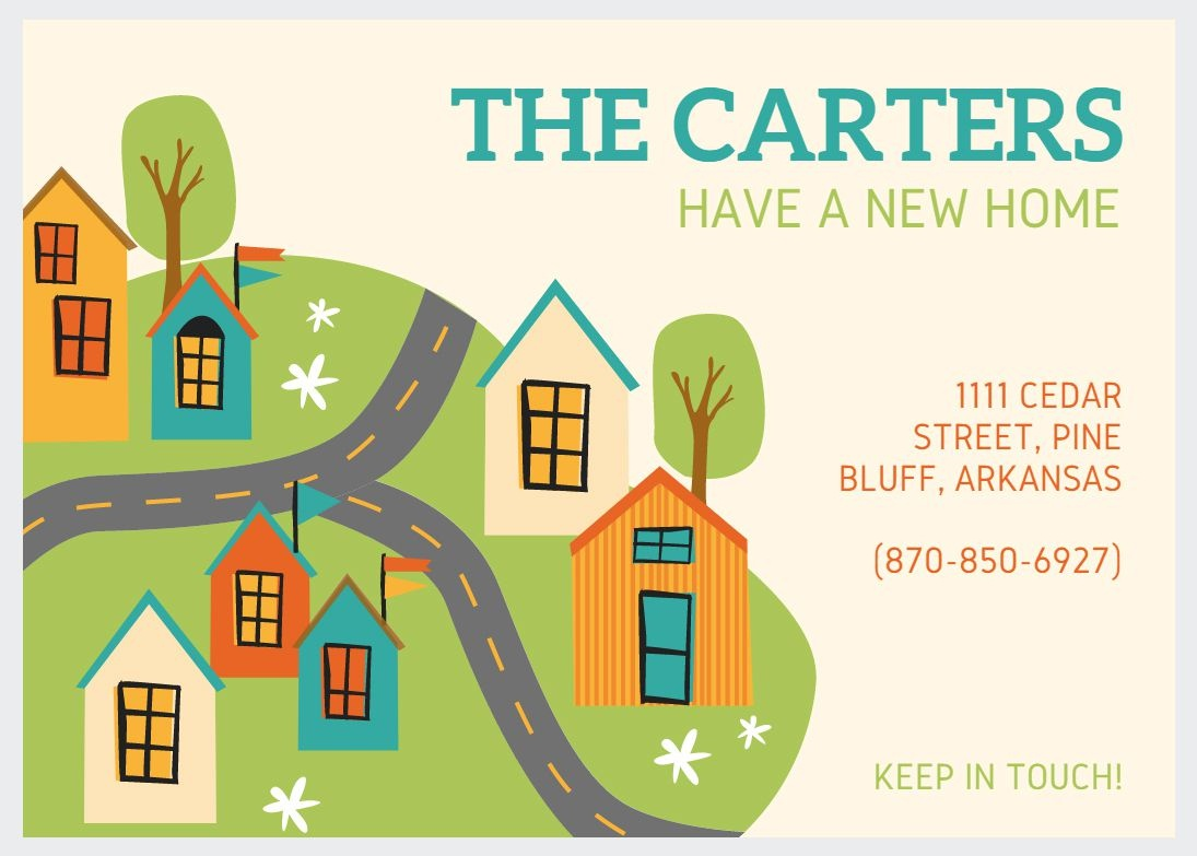 49 Free Change Of Address Cards (Moving Announcements) - We Are Moving Cards Free Printable