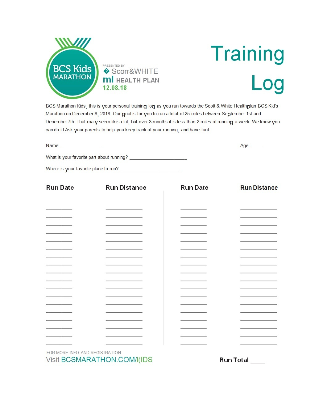 49 Handy Running Log Templates (+Walking Charts) ᐅ Template Lab - Free Printable Running Log