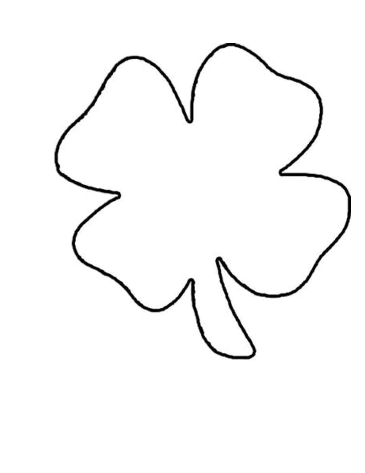 4+Clover+Leaf+Template+Shamrock+Pattern   St. Patricks   Shamrock - Free Printable Shamrock Cutouts