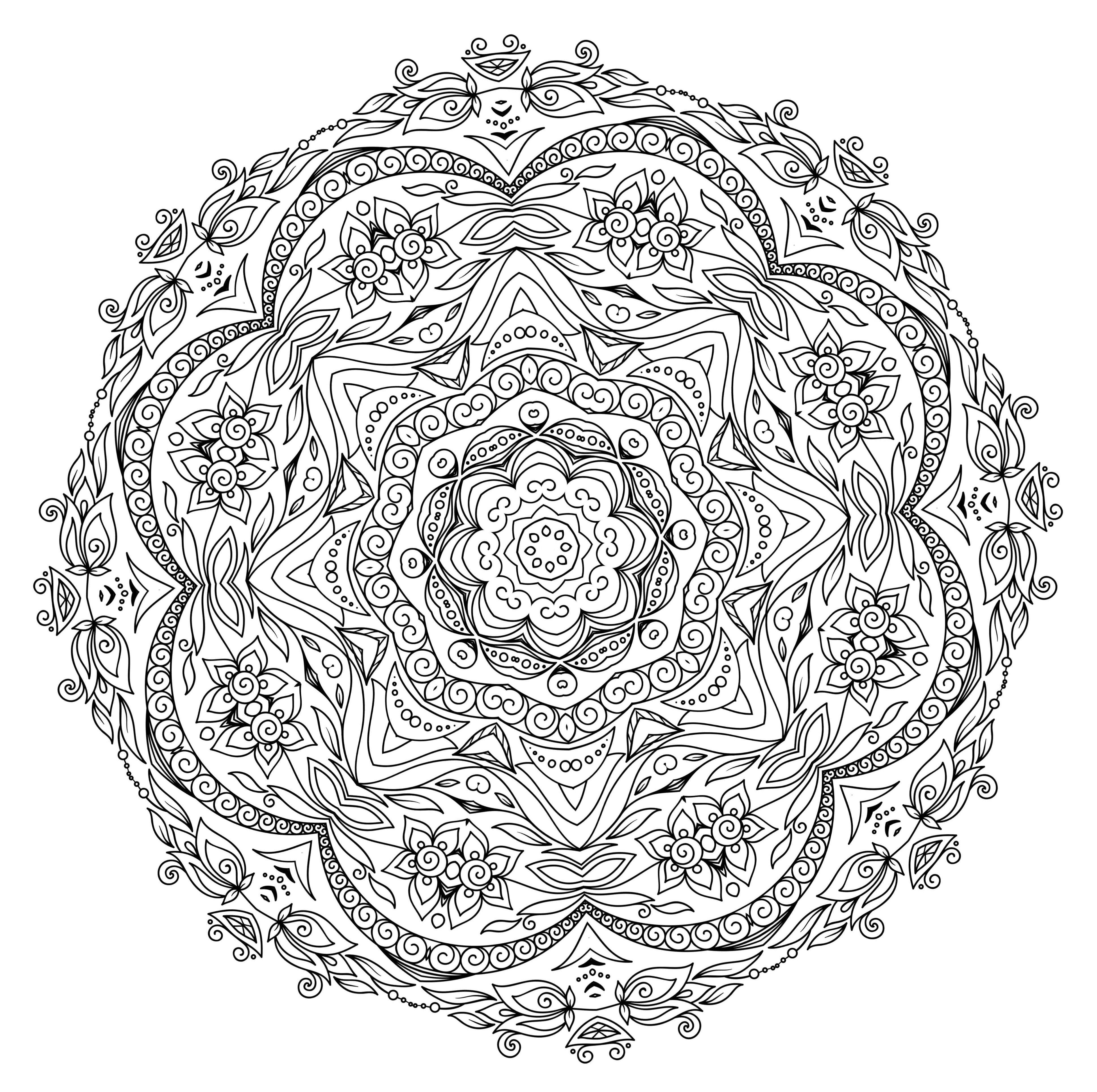 5 Free Printable Coloring Pages: Mandala Templates | Mental Health - Free Printable Mandala Patterns