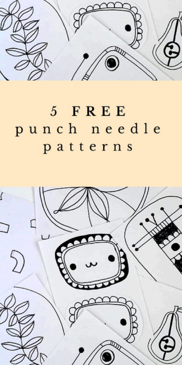 5 Free Punch Needle Patterns – Merry & Bright | .punch&needle - Free Printable Punch Needle Patterns