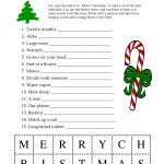 5 Images Of Free Printable Christmas Word Games | Printablee   Free Printable Christmas Word Games For Adults