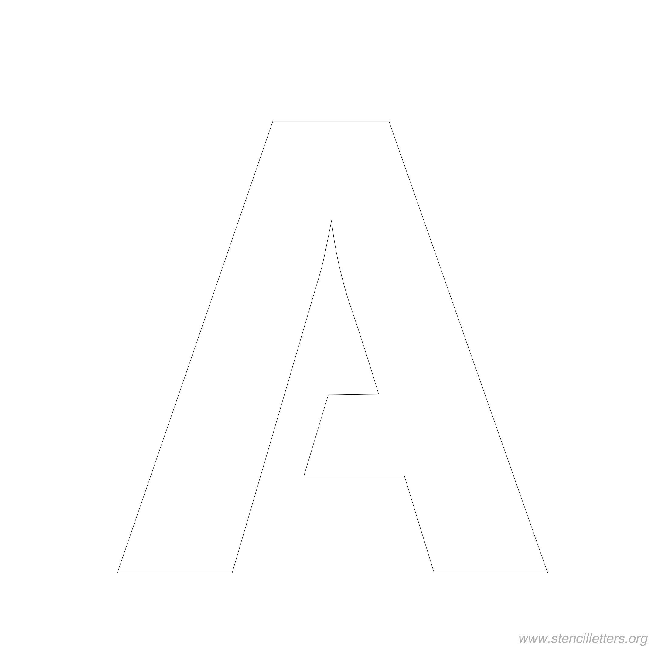 5 Inch Stencil Letters   Stencil Letters Org - Free Printable 10 Inch Letter Stencils