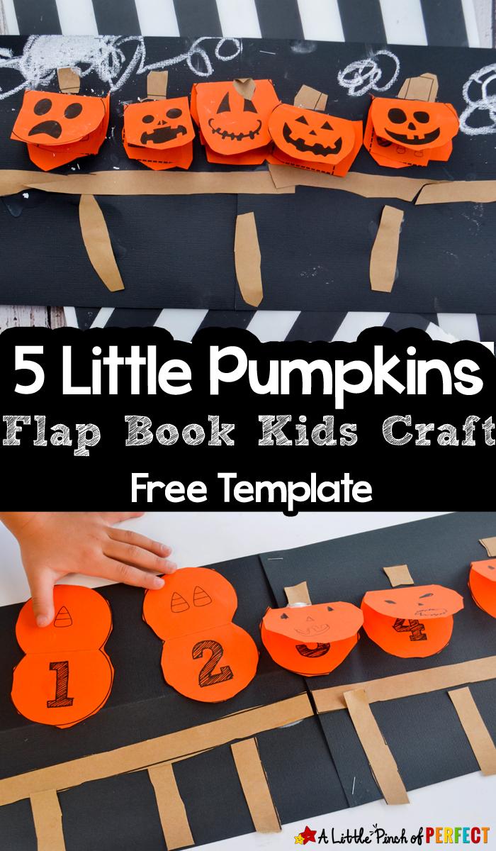 5 Little Pumpkins Flap Book Craft And Free Template - - Free Printable Pumpkin Books