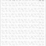 5 Printable Cursive Handwriting Worksheets For Beautiful Penmanship   Free Printable Cursive Handwriting Worksheets