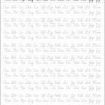 5 Printable Cursive Handwriting Worksheets For Beautiful Penmanship   Free Printable Handwriting Worksheets
