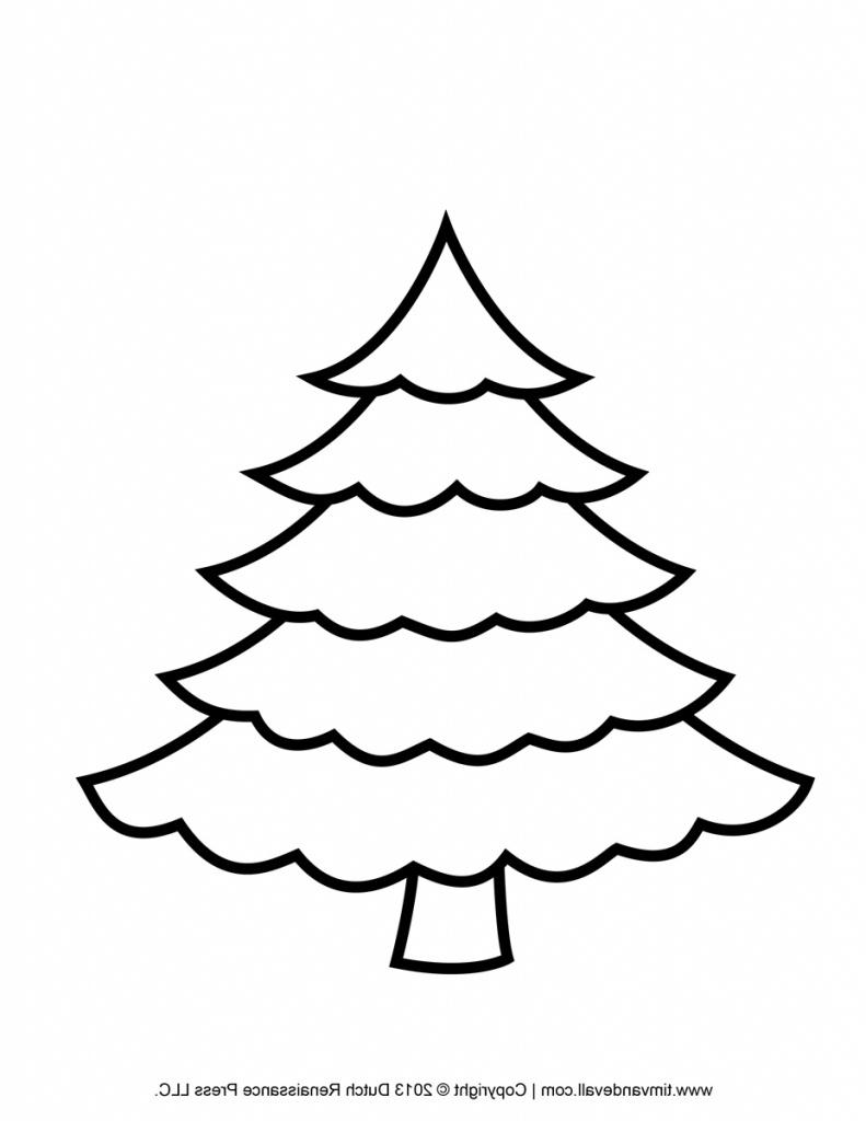 50 Christmas Tree Printable Templates   Kittybabylove - Free Printable Christmas Tree Template