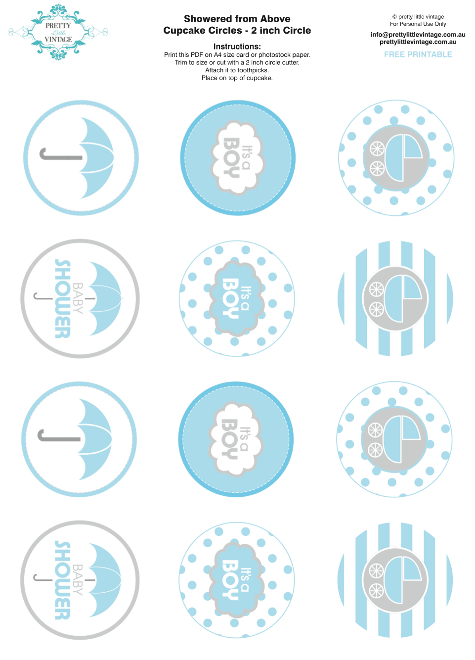 50+ Free Baby Shower Printables For A Perfect Party - Page 41 - Baptism Cupcake Toppers Printable Free