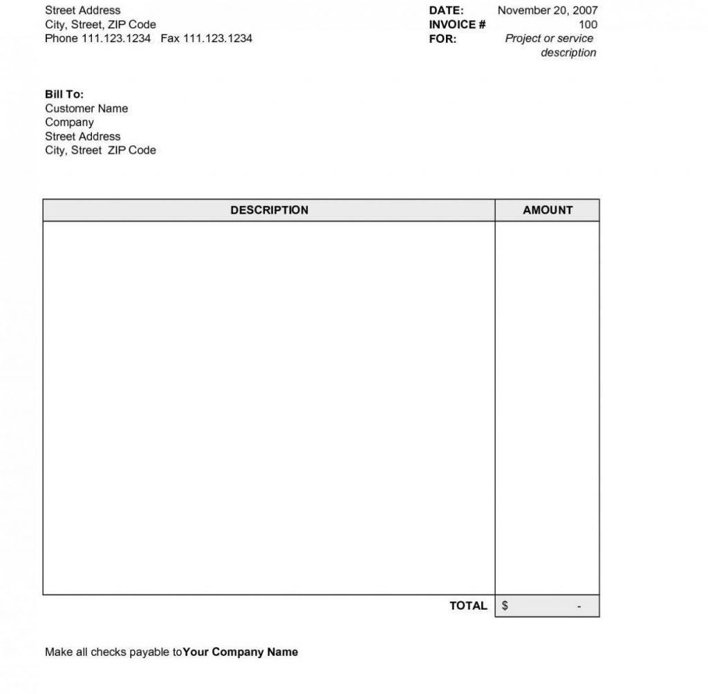 50 Free Blank Invoice Template Pdf Techdeally Document 8 Elegant - Free Printable Invoice Templates