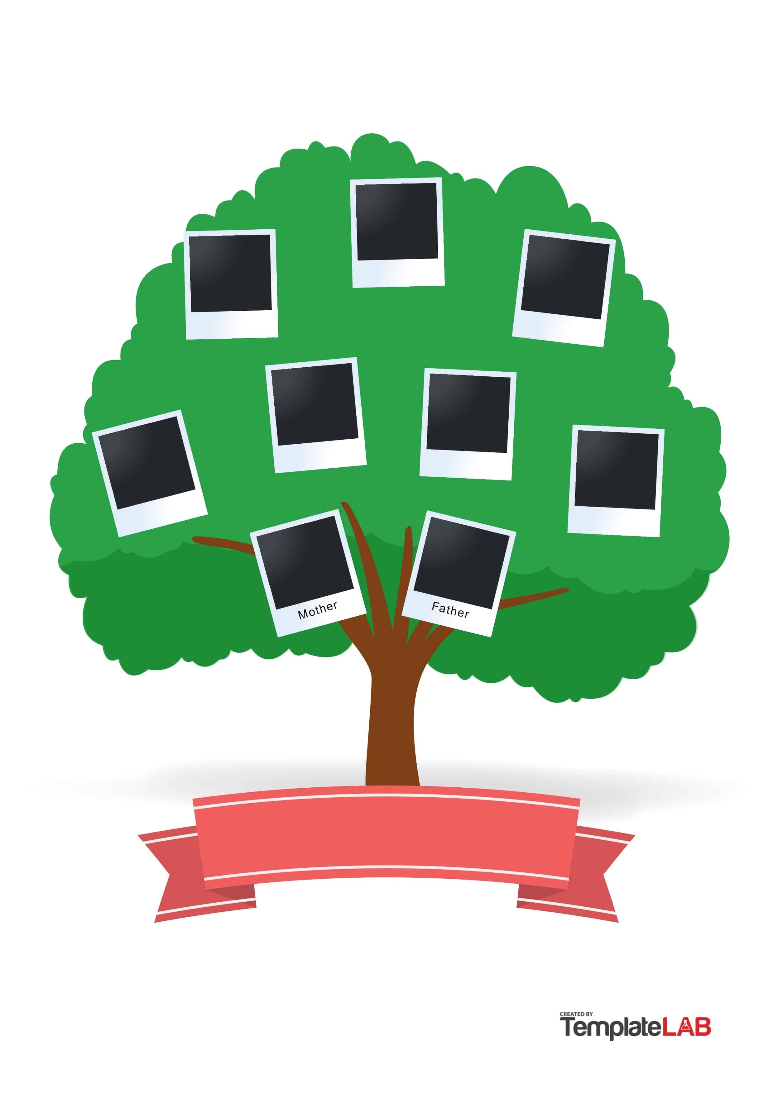 50+ Free Family Tree Templates (Word, Excel, Pdf) ᐅ Template Lab - Free Printable Family Tree Template