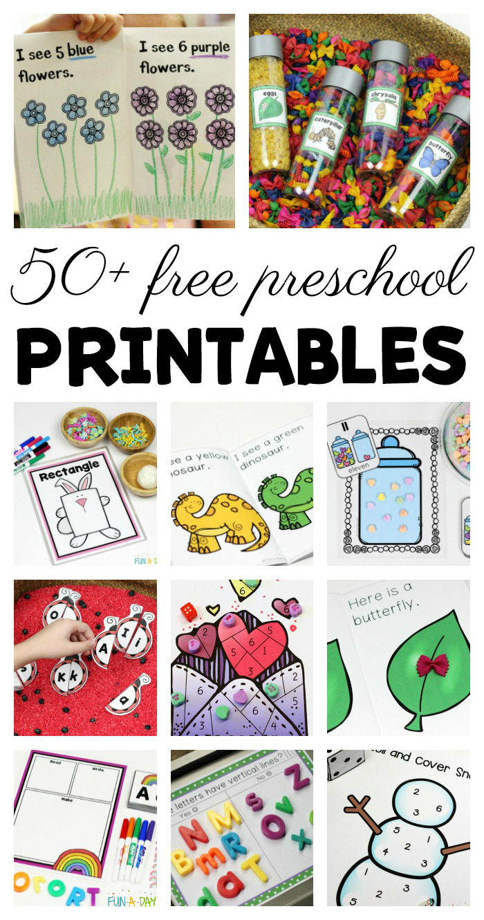 50+ Free Preschool Printables For Early Childhood Classrooms - Free Printable Early Childhood Activities