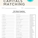 50 State Capitals   Social Studies   Worksheets, English Worksheets   Free Printable States And Capitals Worksheets