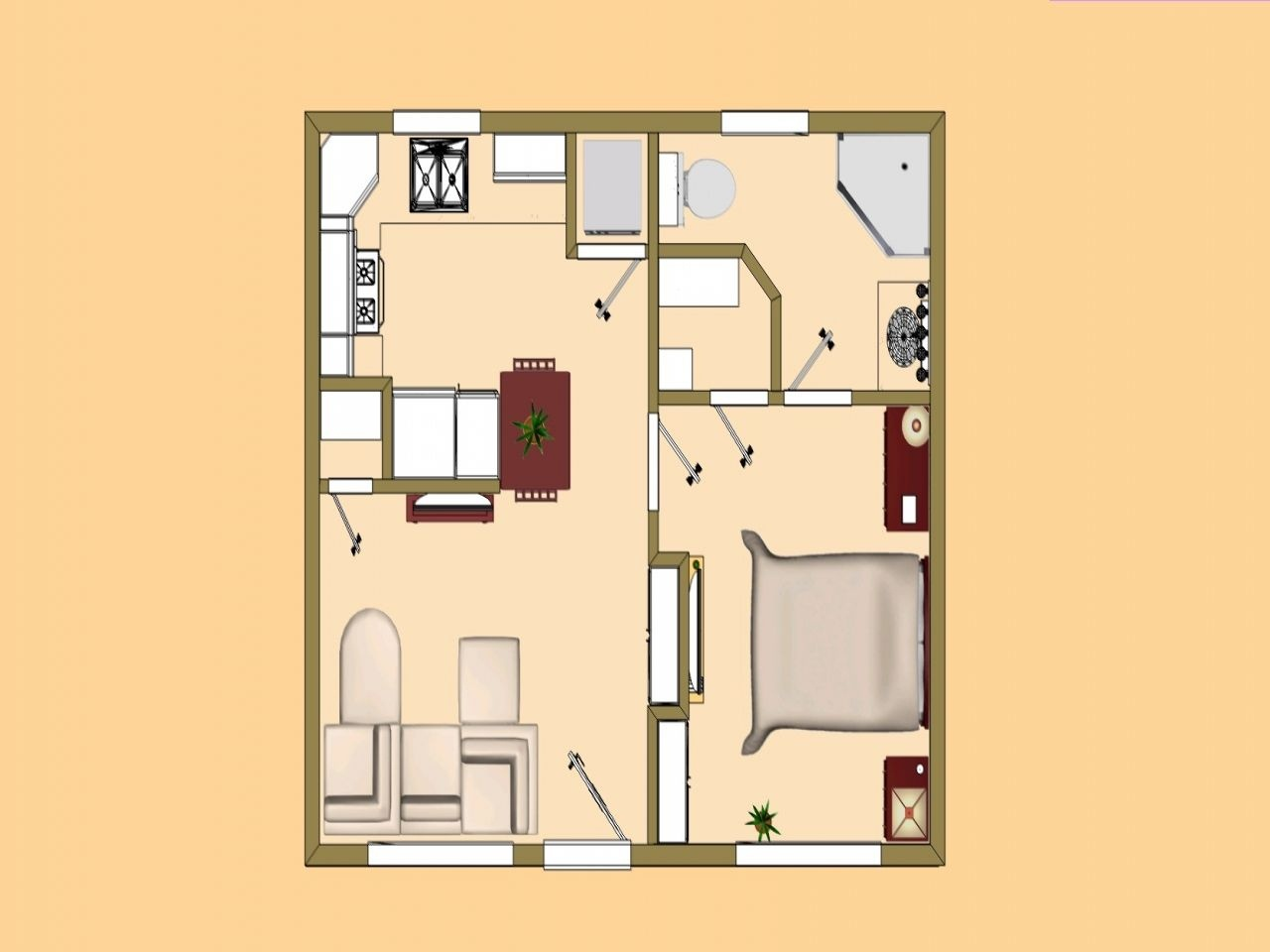 500 Sf House Plans Uk Small 400 Sq Ft To Under Less Than Square 13 - Free Printable Small House Plans
