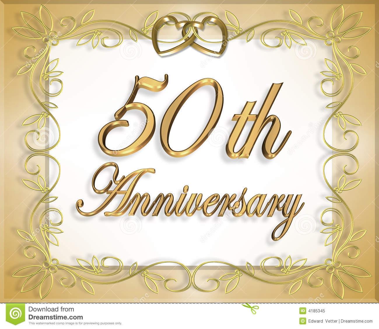 50Th Wedding Anniversary Card Stock Illustration - Illustration Of - Free Printable 50Th Anniversary Cards