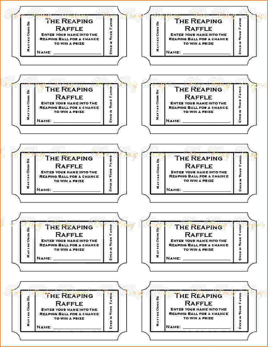 6+ Free Printable Raffle Tickets Template | Teknoswitch - Free Printable Raffle Tickets