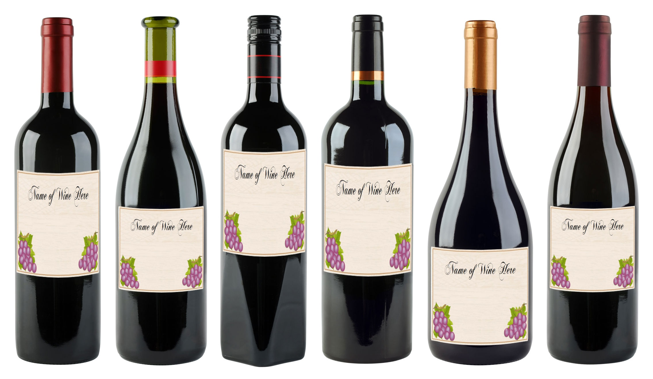 6 Free Printable Wine Labels You Can Customize | Lovetoknow - Free Printable Wine Labels With Photo
