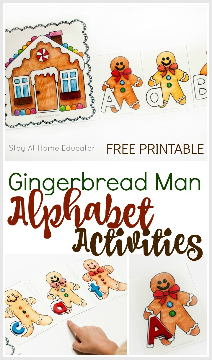 6 Fun Gingerbread Alphabet Activities With Free Printable - Free Printable Gingerbread Man Activities