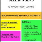 6 Ideas For Bell Ringers | New Teachers | Middle School Teachers   Free Printable Bell Ringers